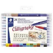 c/24 Rotuladores Staedtler Calligraphy (Doble Punta)