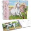 Top Model. Cuaderno Colorear Horses Dream
