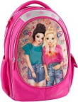 Top Model 18. Mochila Escolar Doble Rosa 8512