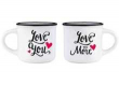 Legami. Set 2 Tazas Espresso Love (MM0005)
