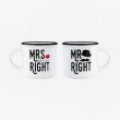 Legami. Set 2 Tazas Espresso Mr. & Mrs. Right (MM0006)